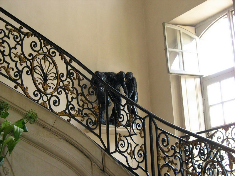 Rodin Museum stairwell.