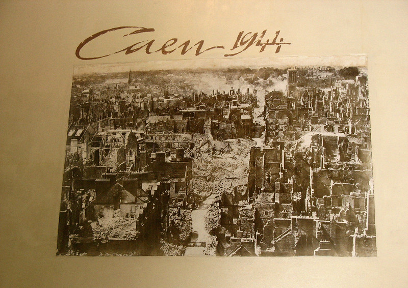 Photo of Caen in 1944. The city was basically totally destroyed.
