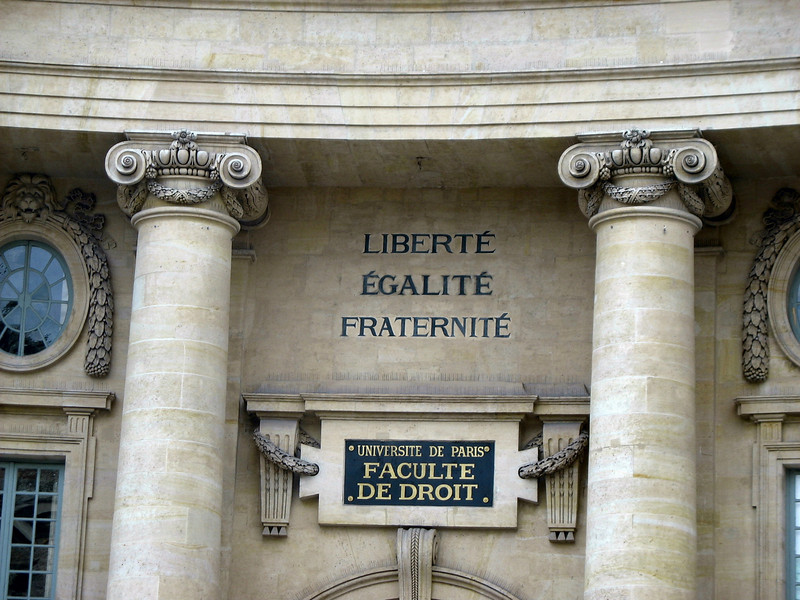 Outside the Panthéon, the law faculty of the University of Paris.
