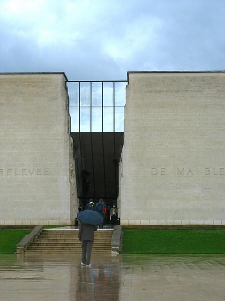 Entrance - Caen Memorial Peace Museum.