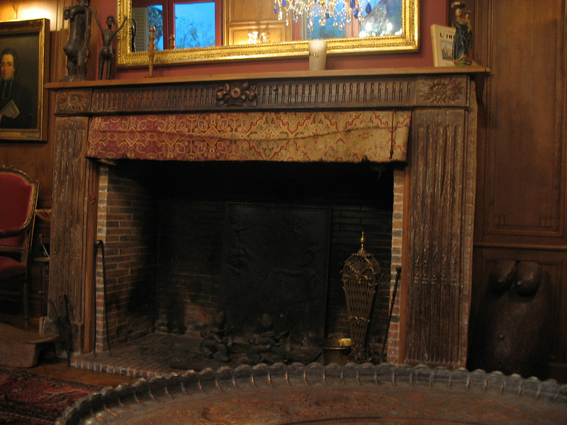 Sitting room fireplace.