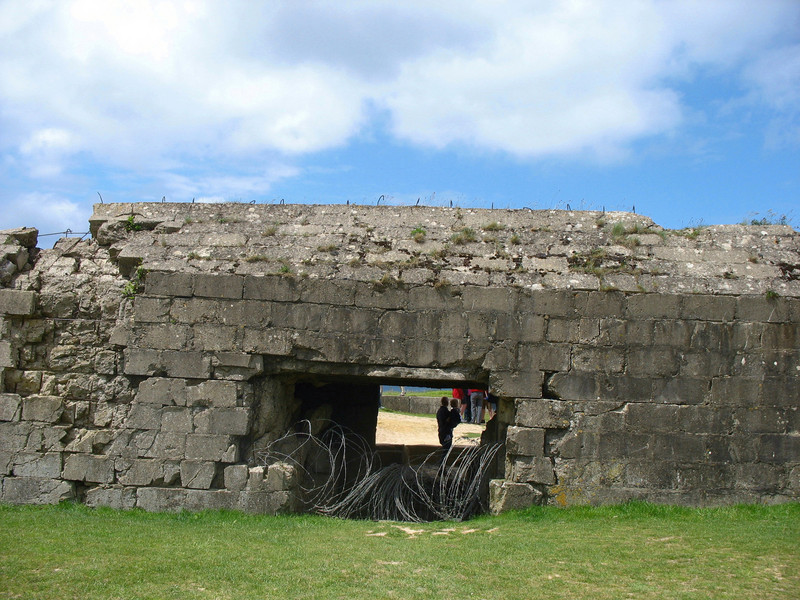 Bunker with child.