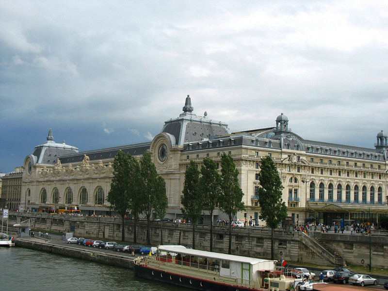 View of the Musee d'Orsay along the Seine.