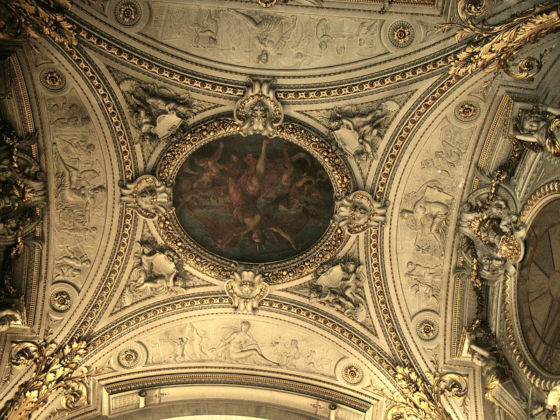 Louvre ceiling.