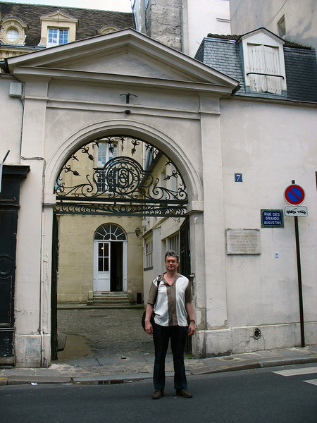 In front of studio where Picasso painted Guernica.
