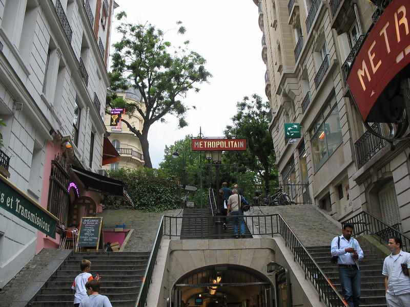 Montmartre. Stairs leading up the hill.