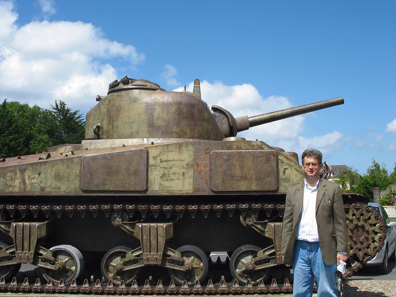 Sherman tank used by U.S. soldiers in 1944.