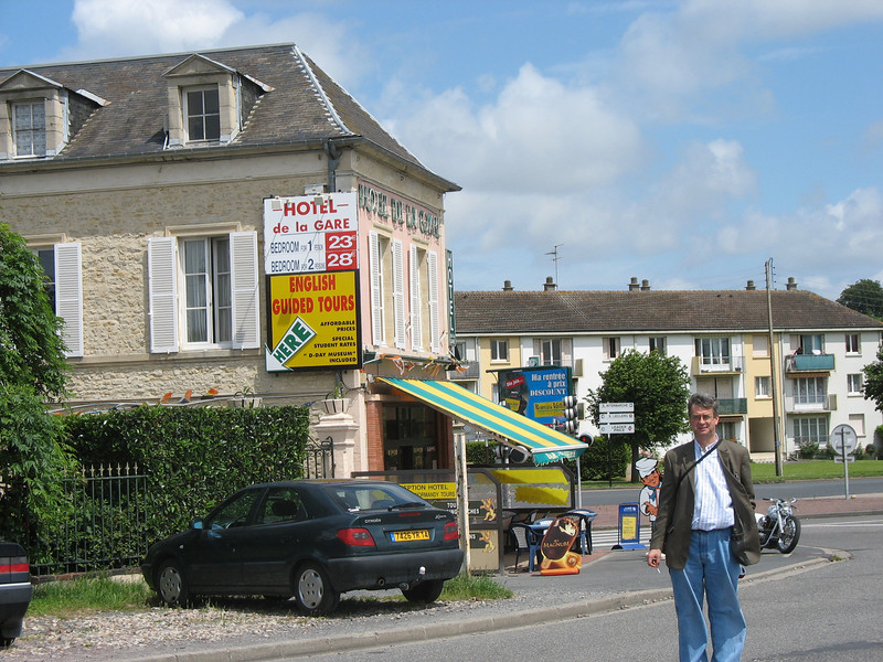 We took the train from Paris to Caen where we rented a car and drove to Bayeux.