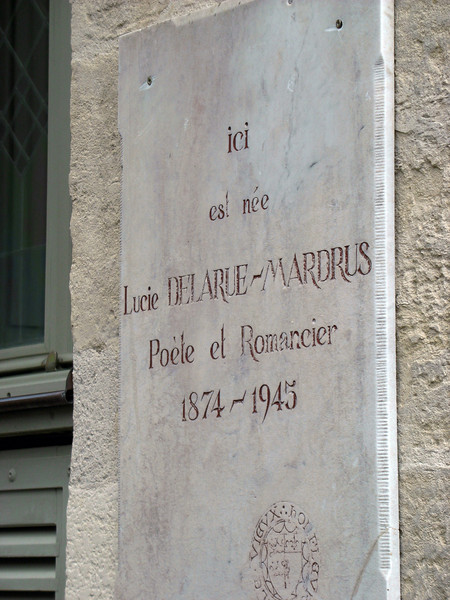 Named after Lucie Delarue-Mardrus, novelist and poet who was born here. Friends with Sarah Bernhardt and Collette, Lucie was one of a handful of fin-de-siècle French women writers.
