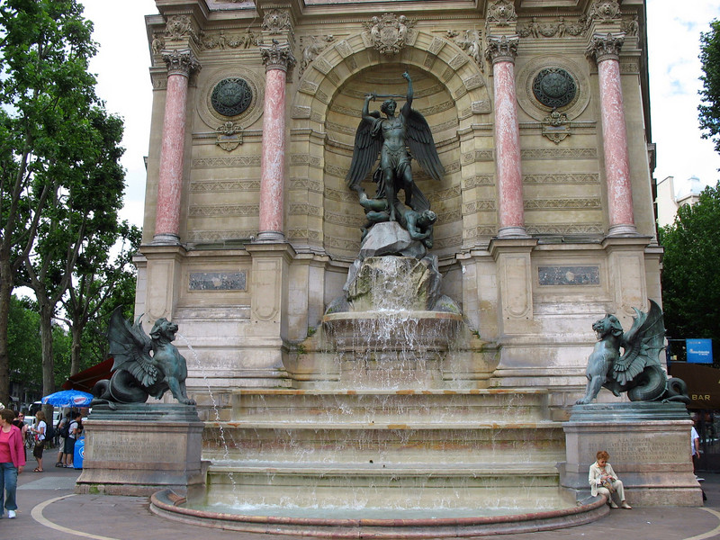 Fountain St. Michel, Latin Quarter. (1855)