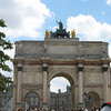 The Arc de Triomphe du Carrousel built by Napoleon to celebrate his military victories.