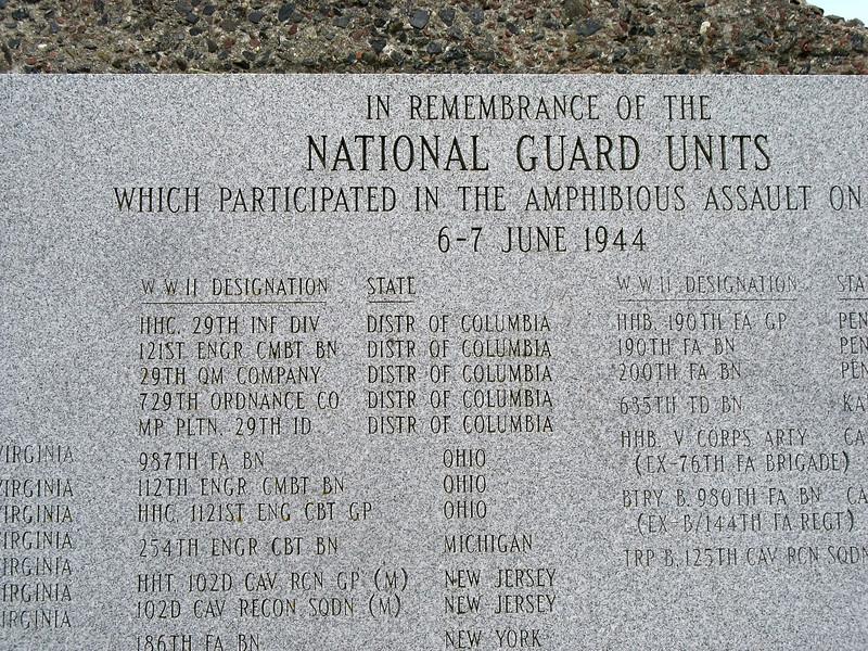 National Guard Memorial, Omaha Beach.