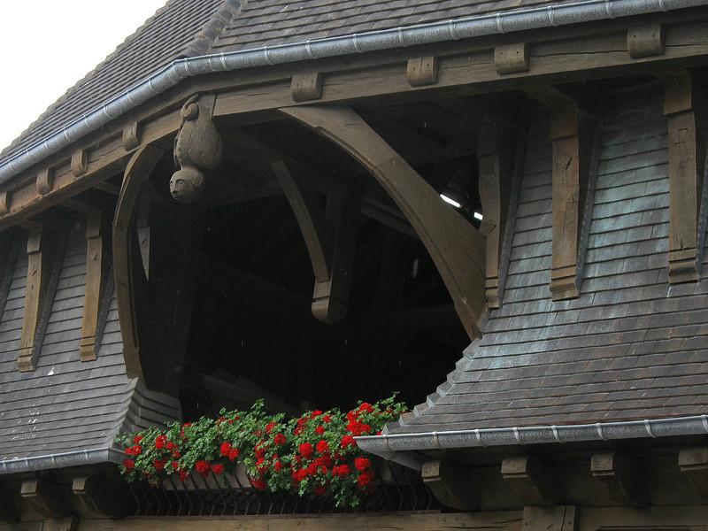 Etretat architecture.