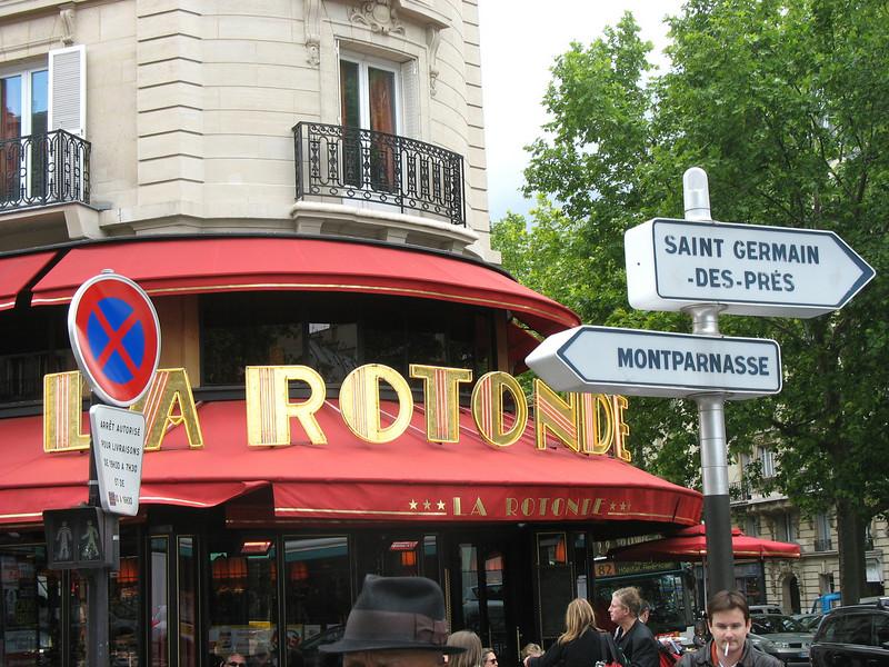 La Rotonde, Montparnasse. The dream of Rustem's youth.