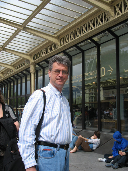 Outside the Musee d'Orsay.