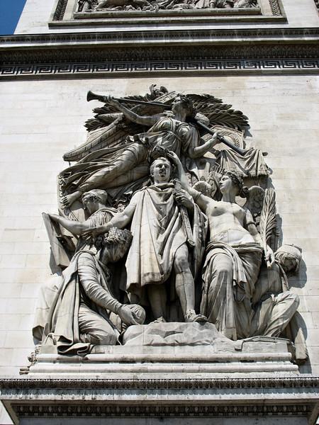 Napoleon at the Arc de Triomphe.