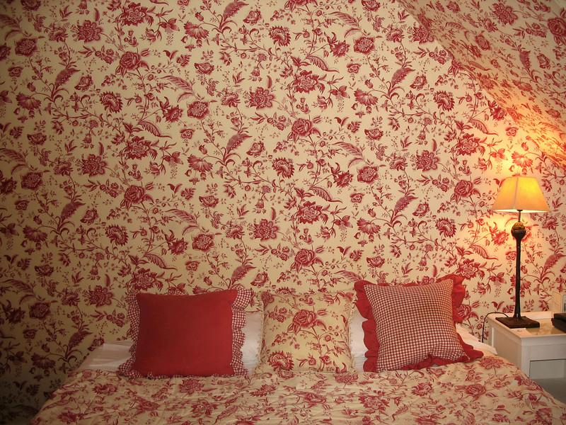 Our delightful room, Chateau de Sully.