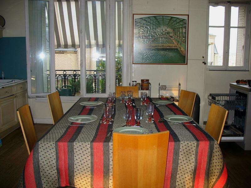 Madeleine's kitchen set for tonight's dinner.