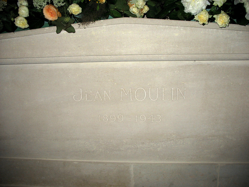 Jean Moulin's tomb.