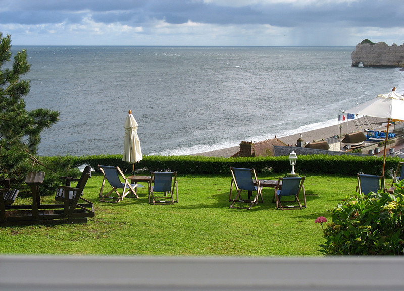 View from our room at Dormy House.