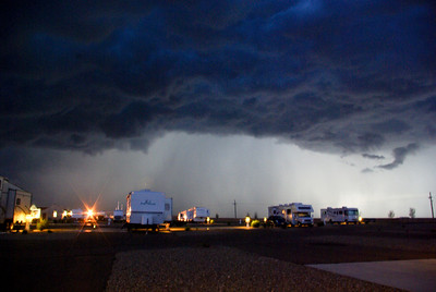 The storm that blew up and almost blew us over