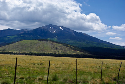 snow on the mountain in June