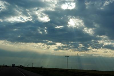 pretty skies on the trip