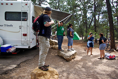 Stand on a rock if you are ready to leave camp!