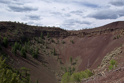 crater of the volcano that had erupted 10,000 years ago