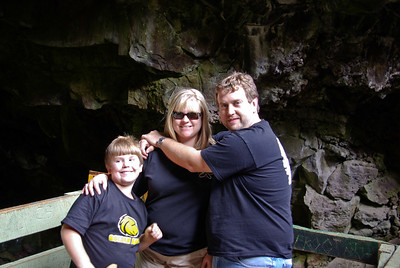Drew, Eric, Rhonda at the ice cave