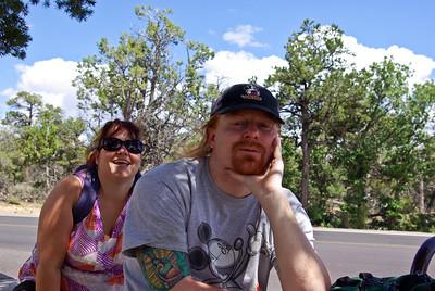 Shelia and Steve on the rim walk
