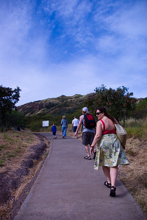 Trail up Diamond Head