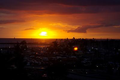 sunset from Luau (Hotel)