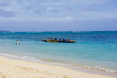 Canoes at Lanikai beach