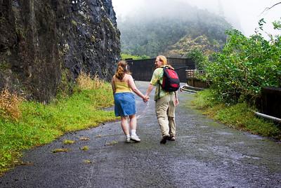 Trail down old Pali Hwy