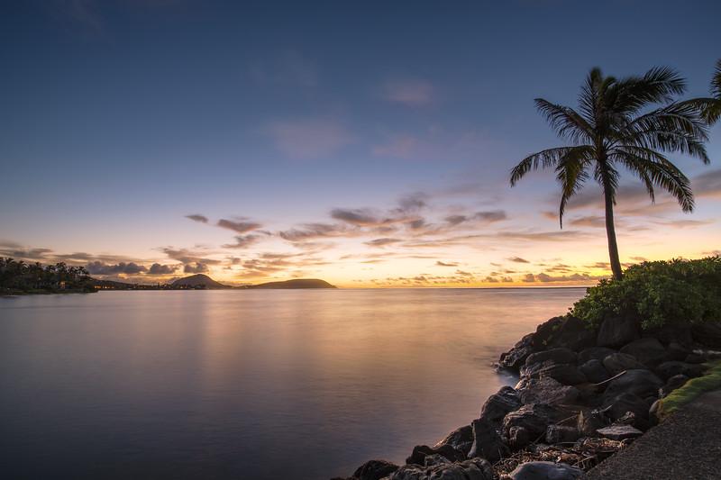 Sunrise on Oahu.