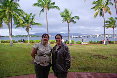 Trixie and April at the Pearl Harbor Memorial