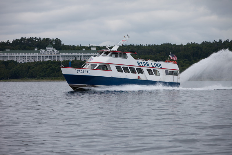 Ferry in front of the Grand Hotel