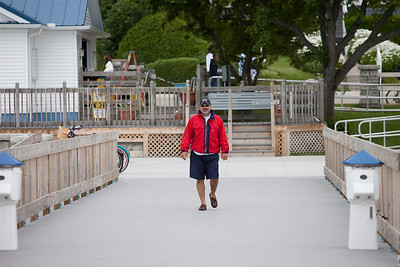 Terry on the docks in Mackinac Island