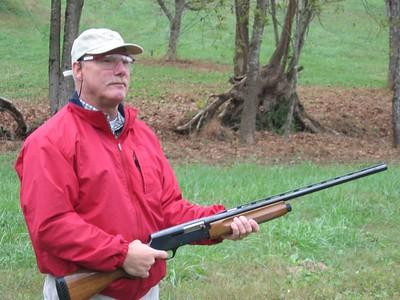 Shooting clay pigons or skeet