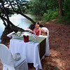 Our secluded river-front location was all set up for the cooking class.
