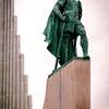 Statue of some Icelandic bloke.