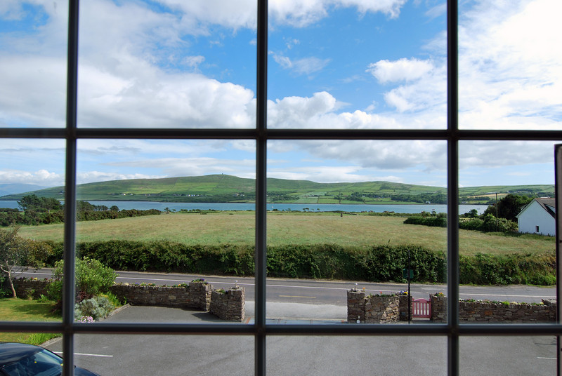 This is the view from our room at Brown's B&B in Dingle.
