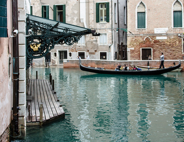 10-12-12 La Fenice (The Phoenix) - the very famous opera house in Venice. Obviously this is the water landing. When we toured the opera house a few minutes later, a young girl was practicing piano for a national contest. She was fantastic. She played for at least a half hour - a real treat to hear great music in this place that was designed specifically for music. I looked it up after we got home - her name is Martina Consonni, she's 15 from Como, Italy. She came in second to Giulia Rossini, who we didn't hear play.