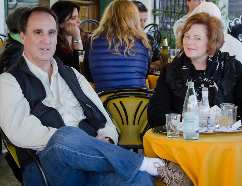 10-12-12 Steve & Kara at a cafe on Riva degli Schiavoni