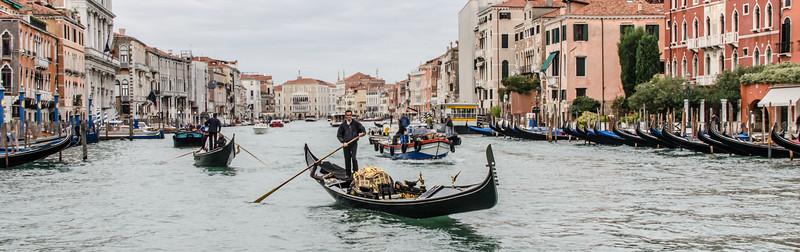 10-11-12 Gondolas along the Grand Canal