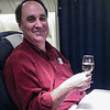10-08-12 - next leg - Chicago to Munich. More champagne before dinner & sleep. We arrive in Munich tomorrow morning at 11:25am.