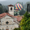 Italy: Church & Hot Air Balloon<br /> 10-14-12 Day 2 and we're off to Il Castello di Masino near Ivrea. Lucky for us we got there just as hot air balloons were taking off. Unlucky for them it was a very foggy day. After a tour of the castle we were off on a short hike to lunch.