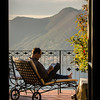 10-16-12 We had a glorius room in Iseo at the I Due Roccoli hotel. This is Steve out on our balcony which adjoined our neighbors Felicia and Hank. The four of us decided we should host a wine tasting before dinner tonight so everyone could enjoy the view from this spectacular balcony. Unfortunately, I didn't take any pictures during the wine party! Doohh!