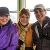 10-17-12 Kara, Jeri & Steve on the ferry over to Mount Isola